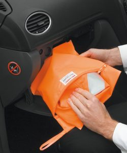 Safety Vest Storage Bag in Fluorescent Orange