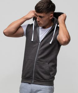 Sleeveless Zoodie in Charcoal (Heather)