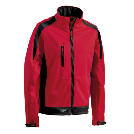 Softshelljacke Athletic rot-schwarz - KORSAR