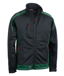 Softshelljacke Athletic schwarz-bottlegrün - KORSAR