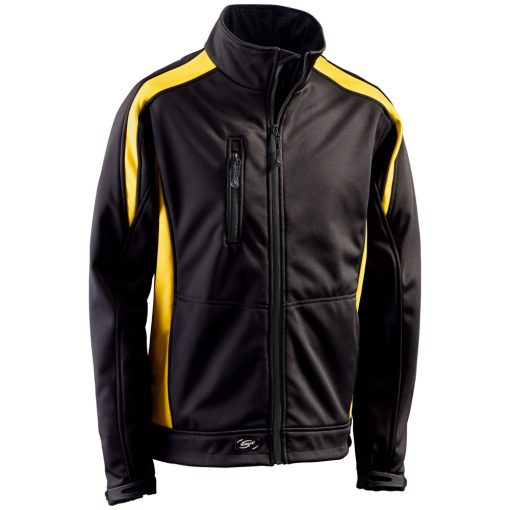 Softshelljacke Athletic schwarz-gelb - KORSAR