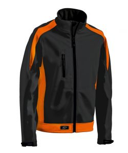 Softshelljacke Athletic schwarz-orange - KORSAR
