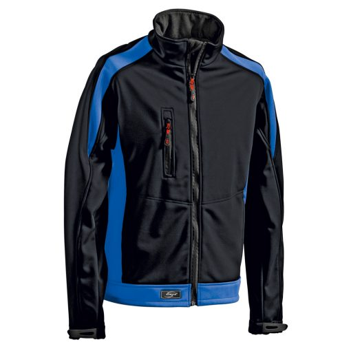 Softshelljacke Athletic schwarz-royalblau - KORSAR