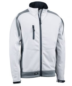 Softshelljacke Athletic weiß-dunkelgrau - KORSAR