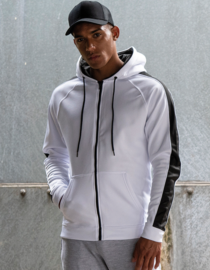 Sports Polyester Zoodie in Arctic White