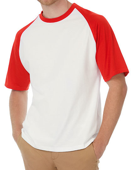 T-Shirt Base-Ball in White