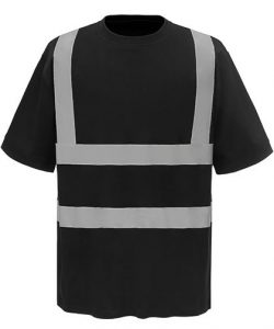Two Band & Brace Hi Vis T-Shirt in Hi-Vis Orange