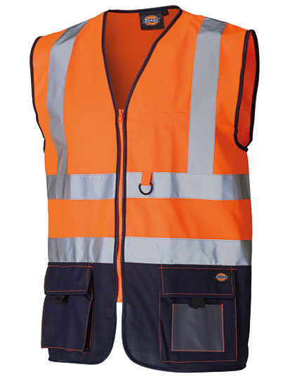 Two Tone High Visible Bodywarmer in Orange