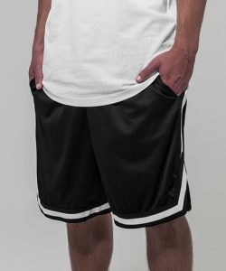Two-tone Mesh Shorts in Black