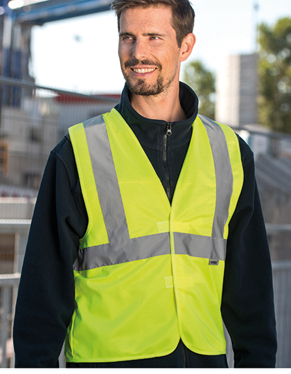 Warning Vest - 3 Reflective Stripes in Signal Orange