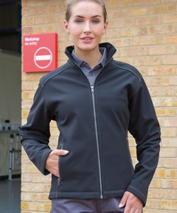 Women´s Treble Stitch Softshell Jacket in Black
