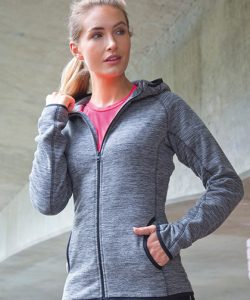 Womens Microfleece Hoodi in Grey