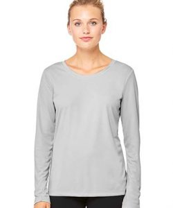 Women`s Performance Long Sleeve Tee in Black