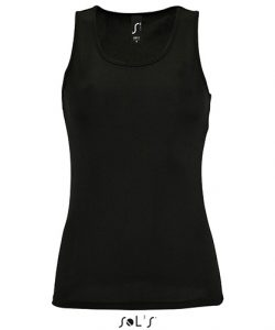 Women`s Sports Tank Top Sporty in Neon Yellow